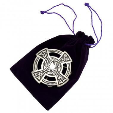 Boucle Ceinture Etain Croix Celtique