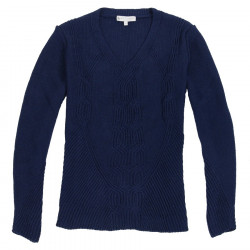 Out Of Ireland V Collar Twisted Navy Sweater