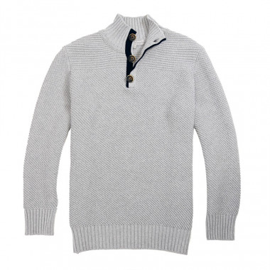 Out Of Ireland Grey High Collar Sweater