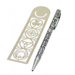 Bookmark and Pen Set with Irish Symbols
