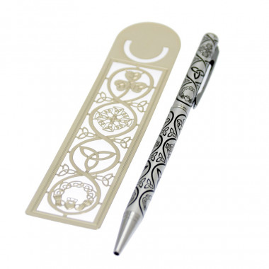 Set Marque-Page et Crayon Symboles Irlandais