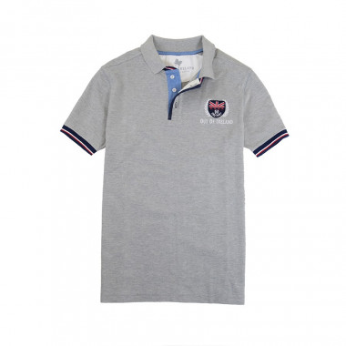 Polo Maille Piquée Gris Chiné Out Of Ireland