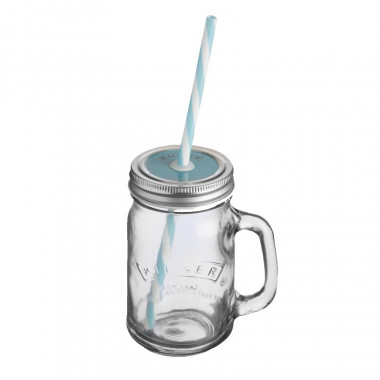 Kilner Jar with Straw 400ml