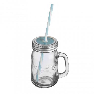 "Verre ""Jar"" avec Paille Kilner 400ml"