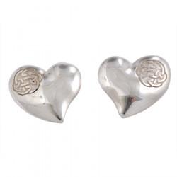 Silver Lugh's Knot Heart Earrings