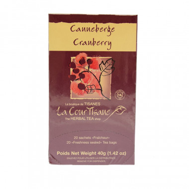 Cranberry Herbal Tea 20 Bags