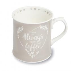 Food For Thought Gris Tankard Coffee Mug