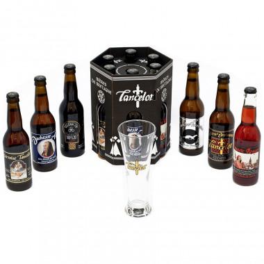Coffret 6 Bières Lancelot 33cl + 1 Verre