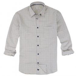 Out Of Ireland Green, Brown & Ecru Small Checks Shirt