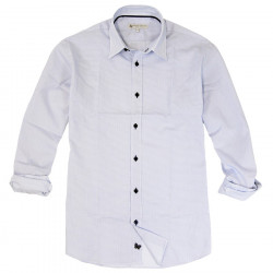 Out Of Ireland Navy Diamonds Print Shirt