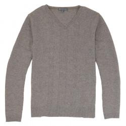 Best Yarn V Collar Grey Sweater