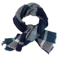 Out Of Ireland Large Blue Tiles Square Stole