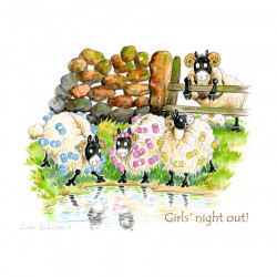 Girls' Night Out Placemat