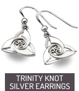 Silver earrings Trinity Knot