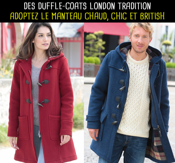 Des duffle-coats London Tradition