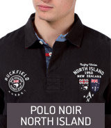 Polo noir North Island Ruckfield