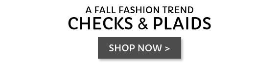 Checks & plaids: the fashion fall