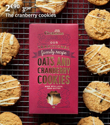 Grahams cranberry cookies