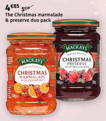 Mackays Christmas marmalade & preserve duo pack