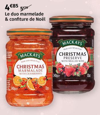 Duo marmelade & confiture de Noël Mackays