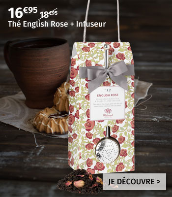 Thé Whittard English Rose + Infuseur