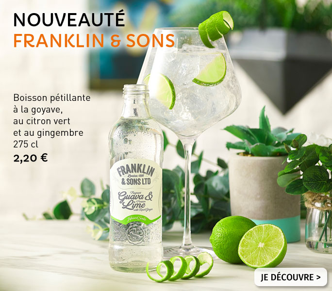 Boisson pétillante Goyave & Citron vert Franklin & Sons