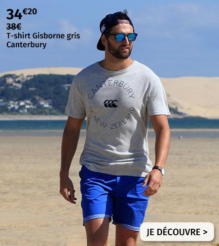 T-shirt Gisborne gris Canterbury