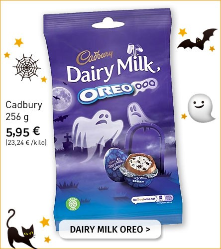 Cadbury Dairy Mild Oreo Halloween