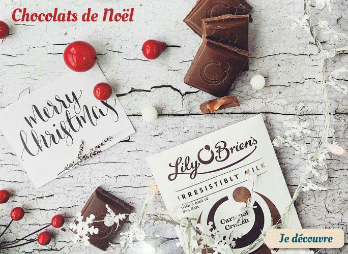 Sélection de chocolat de Noël
