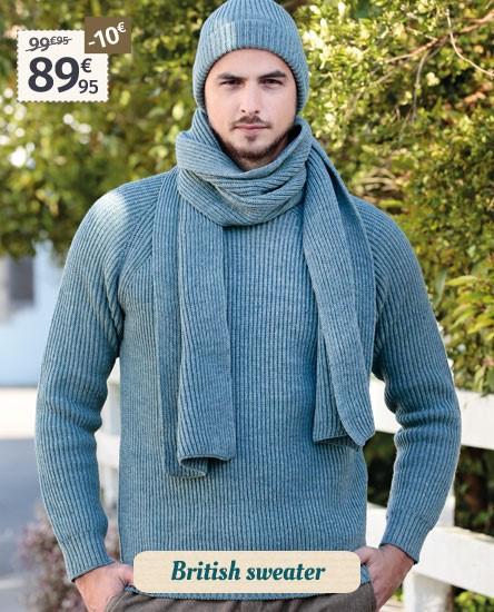 Peregrine Ice Blue Sweater