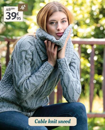 Aran Woollen Mills Cable Knit Snood
