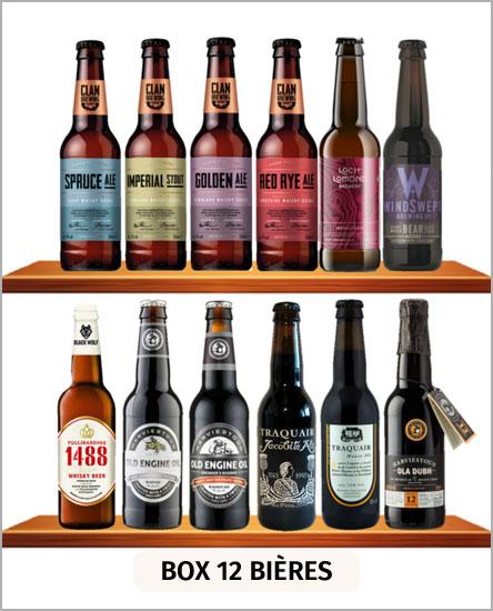 Box découvertes 12 bières écossaises