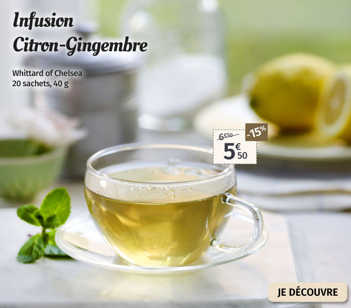 Infusion Whittard Citron-Gingembre
