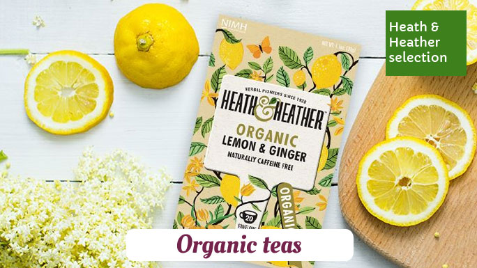 Heath & Heather tea selection