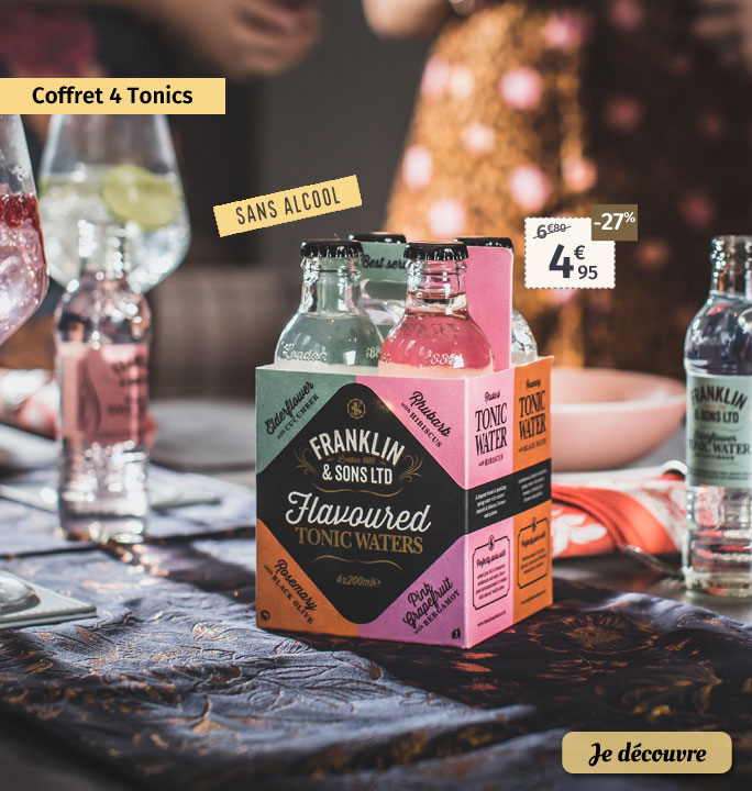 Coffret 4 tonics sans alcool Franklin & Sons