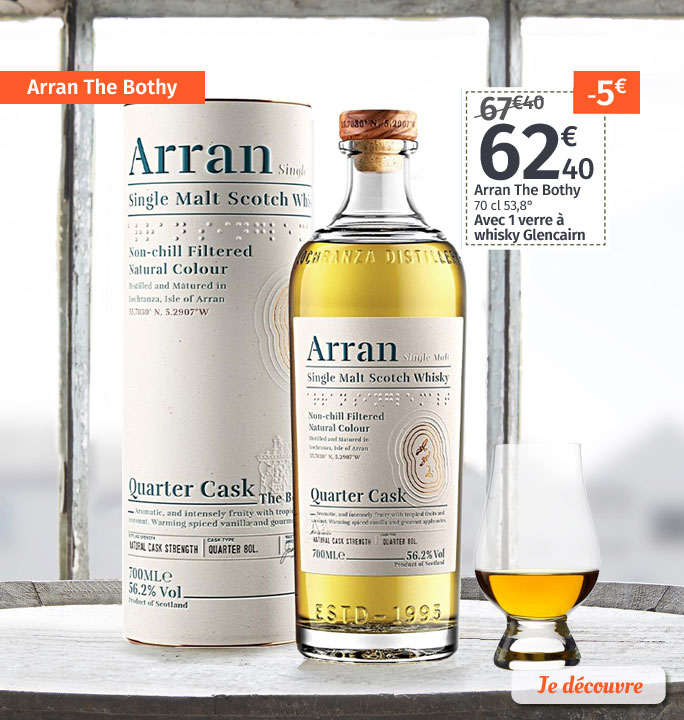 Arran The Bothy + 1 verre Glencairn