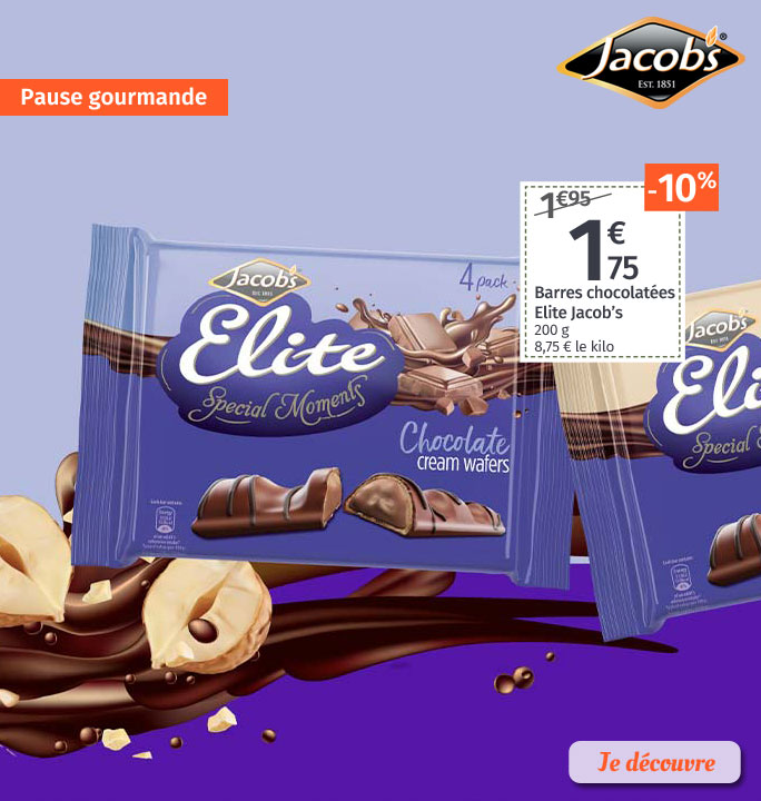 Barres chocolatées Jacobs Elite