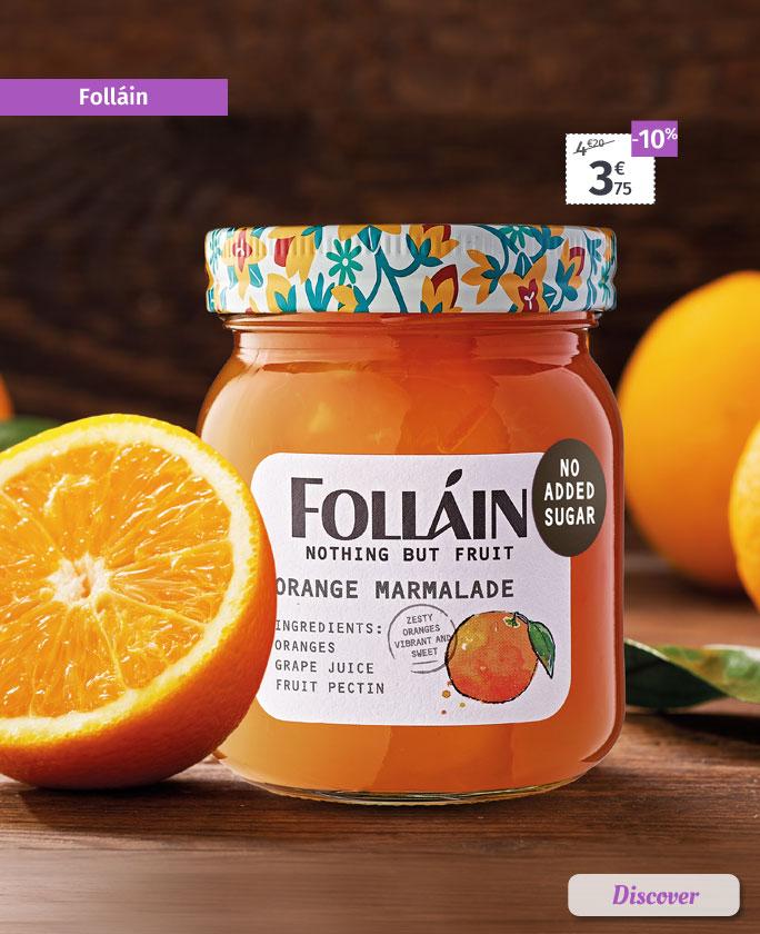 Folláin marmalades, preserves and spreads