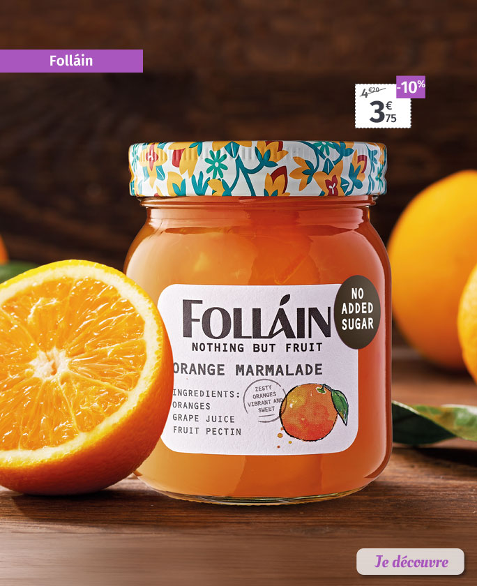 Marmelades, confitures et tartinades Folláin