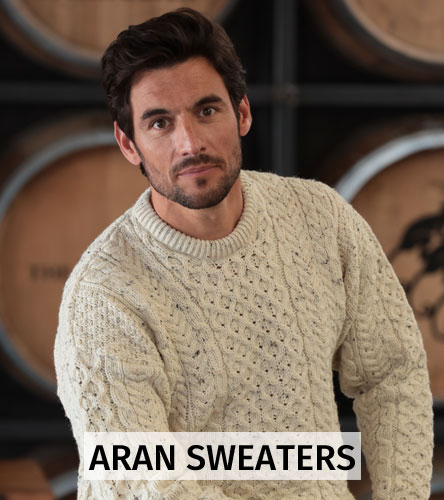 Men's Aran sweaters and cardigans