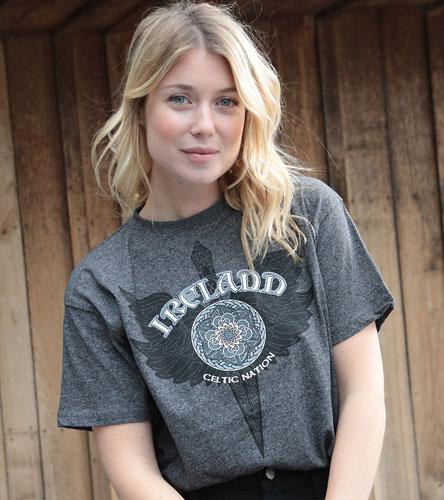 T-shirt ireland gris