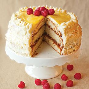 Gâteau framboise et citron