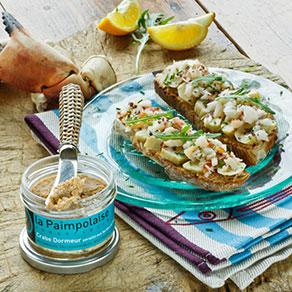 Tartines crabe et artichauts