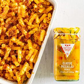 Macaroni au fromage sauce Piccalilli