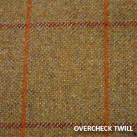 "Tweed ""overcheck twill"""