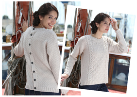 Button Back Sweater Peregrine