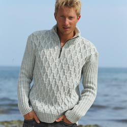 Peregrine zip-neck sweater