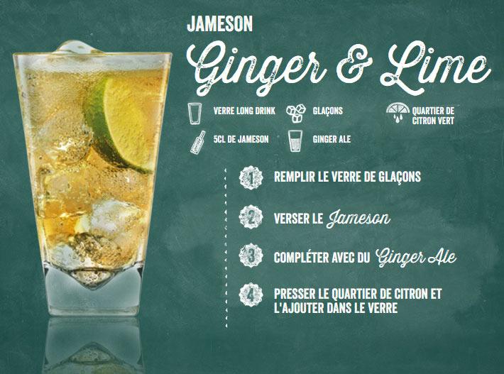 Cocktail Jameson Ginger et citron
