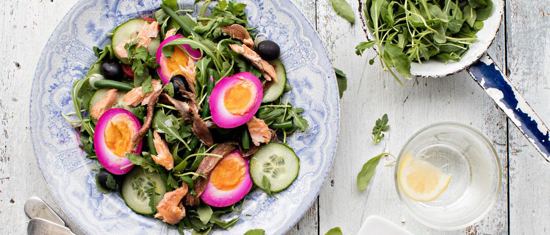 D couvrez notre salade de printemps avec oeufs marin s - Comptoir irlandais lorient ...